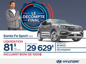 Ne manquez pas le DÉCOMPTE FINAL sur le Santa Fe 2018 chez Hyundai Magog!