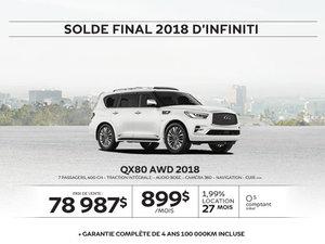 QX80 AWD 2018