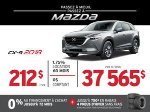 PASSEZ À MIEUX – PASSEZ AU GROUPE BEAUCAGE MAZDA avec le MAZDA CX-9 2018