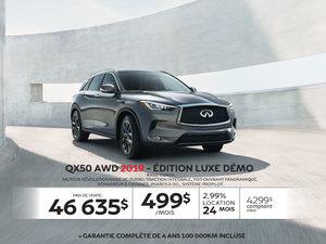 QX50 AWD 2019 édition LUXE Démo