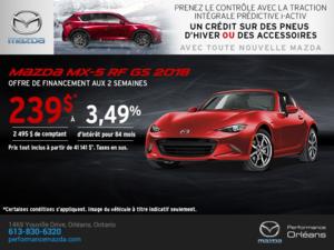 La Mazda MX-5 RF 2018 en rabais! chez Performance Mazda à Ottawa