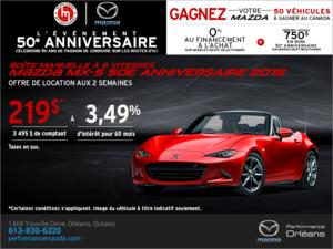 Procurez-vous le Mazda MX-5 2018 aujourd'hui! chez Performance Mazda à Ottawa