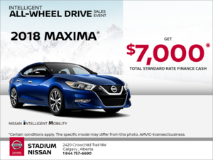 Get the 2018 Nissan Maxima Today!