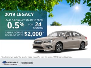 Get the 2019 Subaru Legacy Today!