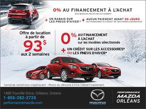 Prenez le contrôle avec Mazda! chez Performance Mazda à Ottawa
