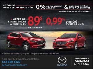 L'événement mensuel de vente Mazda chez Performance Mazda à Ottawa