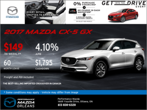 Lease the 2017 Mazda CX-5 GX Today!