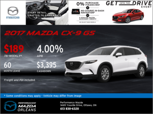 Lease the 2017 Mazda CX-9 GS Today!
