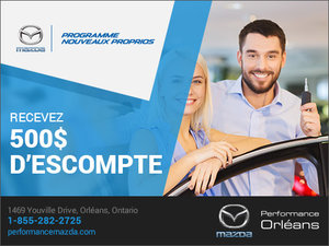 Programme Nouveaux Proprios chez Performance Mazda à Ottawa