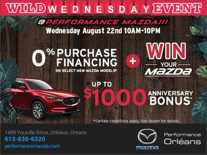 Performance Mazda's Wild Wednesday Event!
