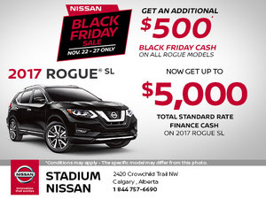Get the 2017 Nissan Rogue Today - Black Friday Sale
