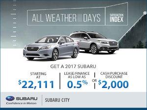 Subaru City's Monthly Sales Event