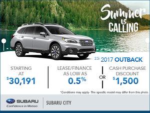 Huge Savings on the 2017 Subaru Outback!