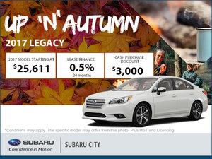 Get the 2017 Subaru Legacy Today!