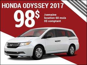 98$ par semaine pour louer la Honda Odyssey 2017 chez Groupe Vincent à Shawinigan et Trois-Rivières