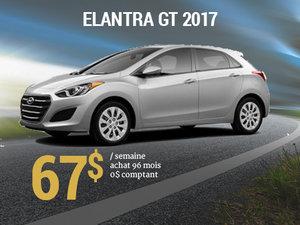 Roulez en Hyundai Elantra GT 2017 pour 67$/sem. chez Groupe Vincent à Shawinigan et Trois-Rivières