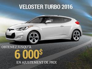 Obtenez jusqu'à 6 000$ en ajustement de prix pour le Hyundai Veloster TURBO 2016 chez Groupe Vincent à Shawinigan et Trois-Rivières