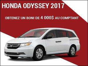 4 000$ de boni au comptant pour la Honda Odyssey 2017 chez Avantage Honda à Shawinigan