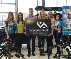 Groupe Vincent, fier partenaire de l'équipe TC Media | Nouvelle / Subway pour le Grand Défi Pierre Lavoie!