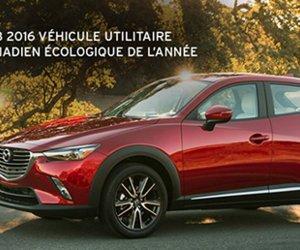 Mazda CX-3 2016 : véhicule écologique canadien de l'année!