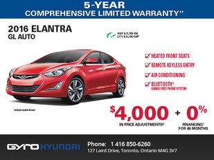 2016 Hyundai Elantra in Toronto