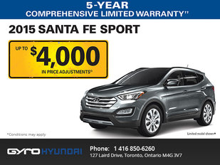 2015 Hyundai Santa Fe in Toronto