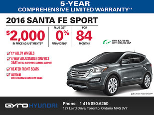 2016 Hyundai Santa Fe in Toronto