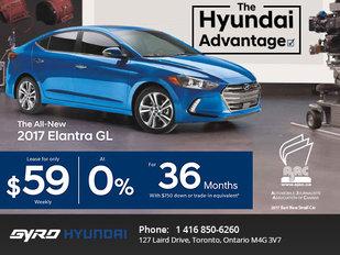Get the All-New 2017 Hyundai Elantra in Toronto
