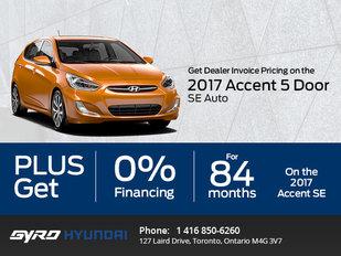 The 2017 Hyundai Accent 5-Door SE Auto in Toronto!