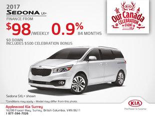 Save on the 2017 Kia Sedona