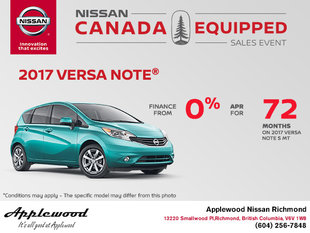 Get the 2017 Nissan Versa Note Today!