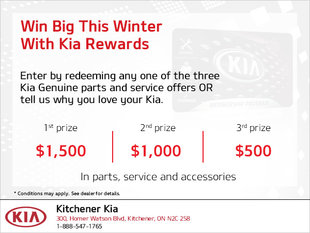 Win Big This Winter With Kia Rewards!