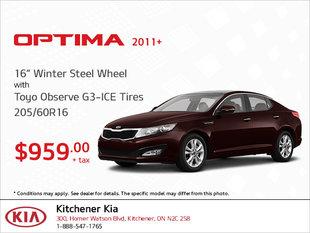 Get Winter Steel Wheel Tires for Your Optima!
