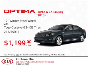 Get Winter Steel Wheel Tires for Your Optima Turbo & EX Luxury!