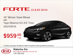 Get Winter Steel Wheel Tires for Your Forte LX & EX!