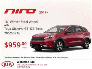Get Winter Steel Wheel Tires for Your Niro!