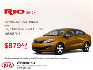 Get Winter Steel Wheel Tires for Your Rio!
