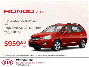 Get Winter Steel Wheel Tires for Your Rondo!