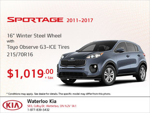 Get Winter Steel Wheel Tires for Your Sportage!