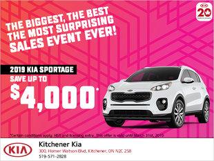 Kia Celebration Sale - 2019 Sportage