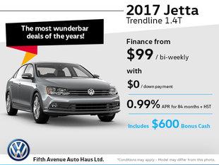Drive home the 2017 Volkswagen Jetta