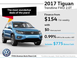 Drive home the 2017 Volkswagen Tiguan
