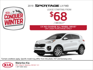 Lease the 2019 Sportage