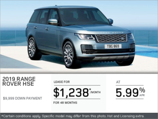 The 2019 Range Rover HSE