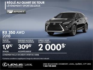 Lexus RX 350 2018