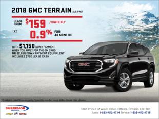Lease the 2018 GMC Terrain