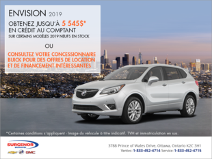 Procurez-vous le Buick Envision 2019