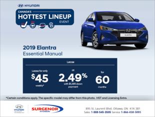 Lease the 2019 Elantra!