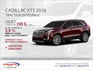 Cadillac XT5 à TI 2018
