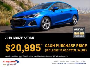 Get the 2019 Chevrolet Cruze Sedan